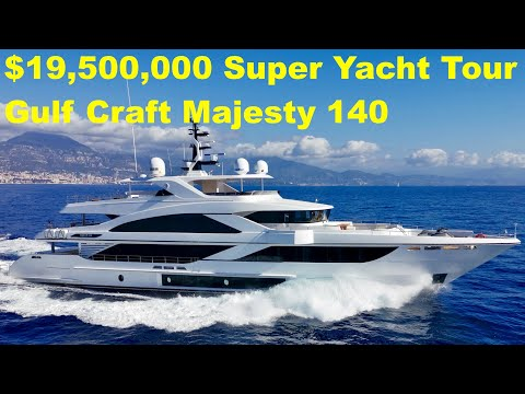 $19,500,000 Super Yacht Tour : Gulf Craft Majesty 140