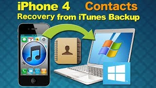 iPhone 4 Data Recovery: How to Recover Deleted or Lost contacts from iPhone4 on Windows?