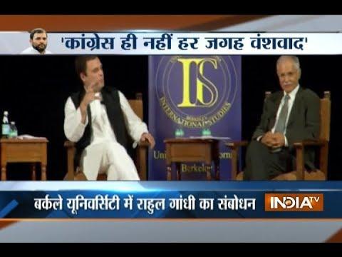 Rahul Gandhi speaks at University of California in Berkeley, attacks Modi govt