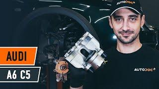 Как да сменим предни спирачен апарат наAUDI A6 C5 Avant [AUTODOC УРОК]