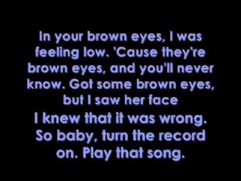 Lady Gaga - Brown Eyes - Lyrics on screen