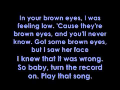 Lady Gaga - Brown Eyes - Lyrics on screen