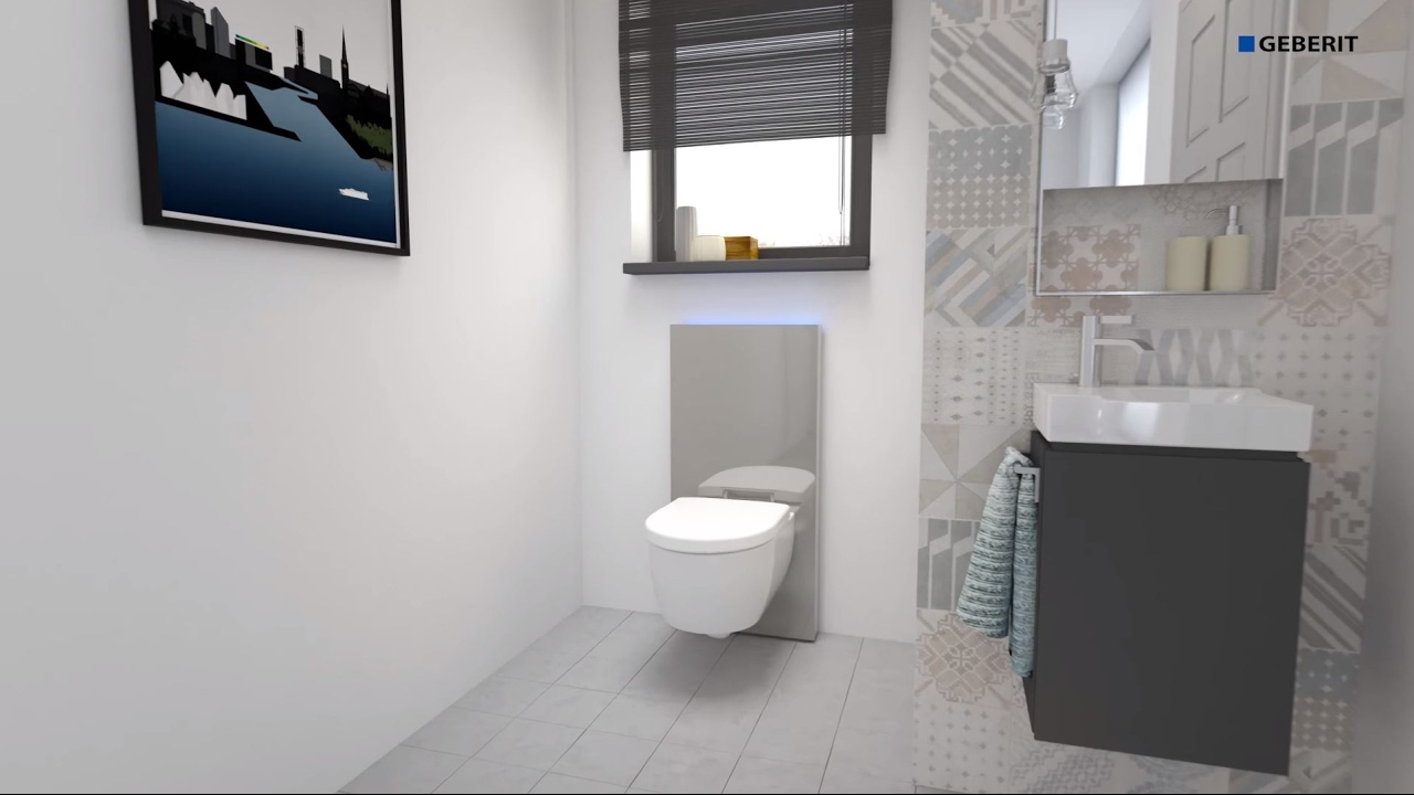 geberit monolith plus 2016 wc wall drain installation youtube. Black Bedroom Furniture Sets. Home Design Ideas