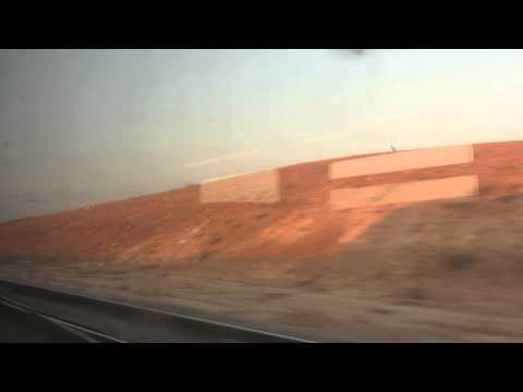 The northern Negev - Israel's Desert as seen from the train window to Beer Sheva