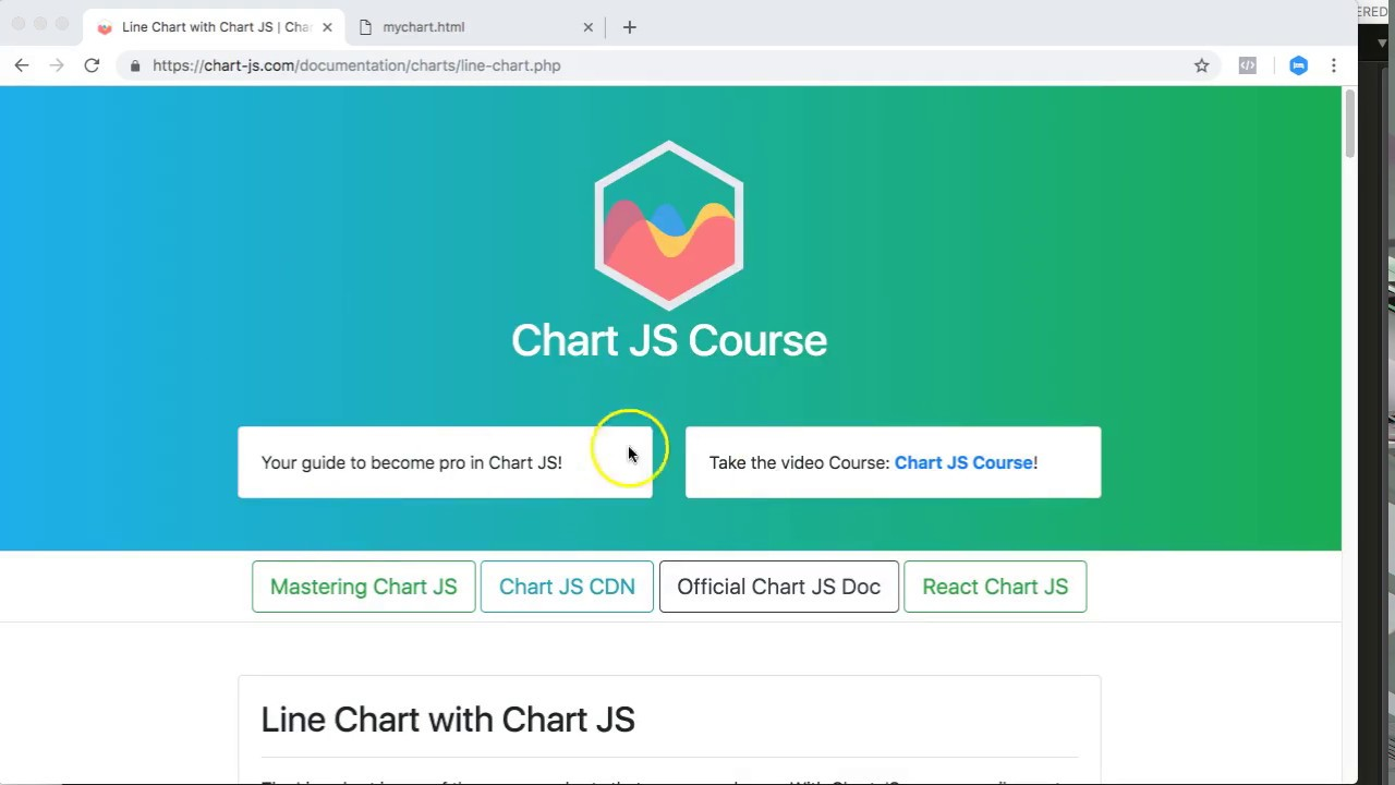 Line Chart with Chart JS | Chart JS Course
