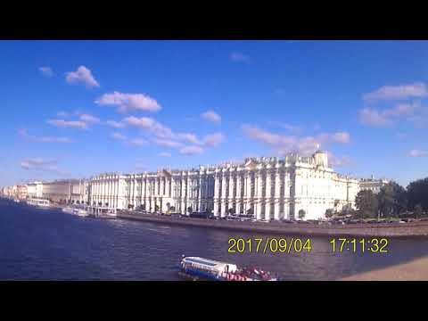 Saint Petersburg. Neva River. Peter and Paul Fortress. Spit of Vasilievsky Island. Winter Palace.