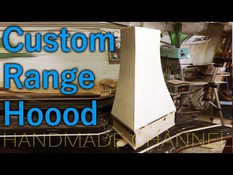 How to build a custom range hood cover
