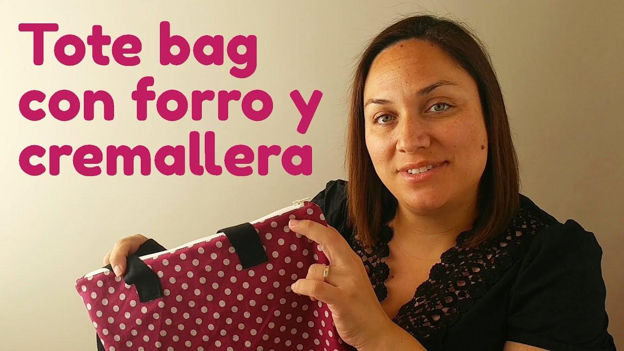 Tote Bag Con Forro Y Cremallera Youtube