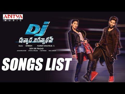DJ - Duvvada Jagannadham Songs List || AlluArjun, Pooja Hegde, Harish Shankar, DSP