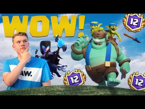 WOW! 12 WIN Goblin Giant  Beatdown Deck LIVE Grand Challenge Gameplay - Clash Royale