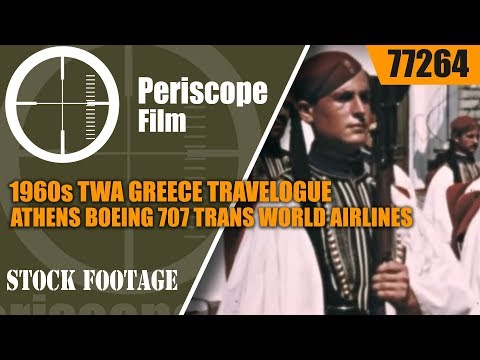 1960s TWA GREECE TRAVELOGUE  ATHENS BOEING 707 TRANS WORLD A