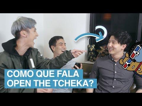 YOUTUBERS DA CORÉIA TENTANDO FALAR EM PORTUGUÊS! ft. Edward Avila e Woojong