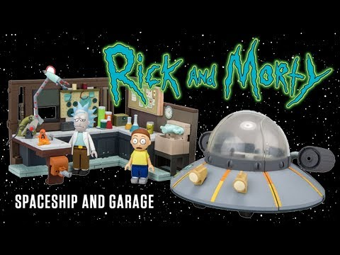 RICK AND MORTY: SPACESHIP AND GARAGE CONSTRUCTION SET