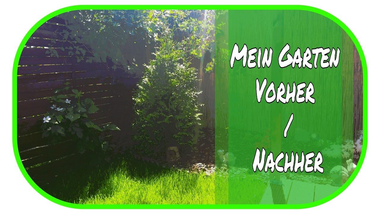 🌻 Mein schöner Garten - Vorher / Nachher 🌻 // Gartendeko ...
