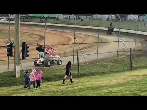 Sprintcars practice Latrobe speedway 8/9/18