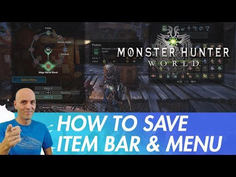 MONSTER HUNTER WORLD PC Item Bar and Radial Menu / how to
