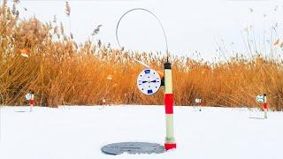 Ловля ЩУКИ на ЖЕРЛИЦЫ на БОЛОТЕ Ночью Зимняя рыбалка на жерлицы