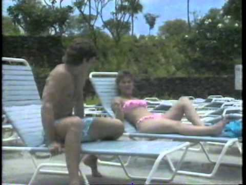 Tracey Gold in a pink bikini