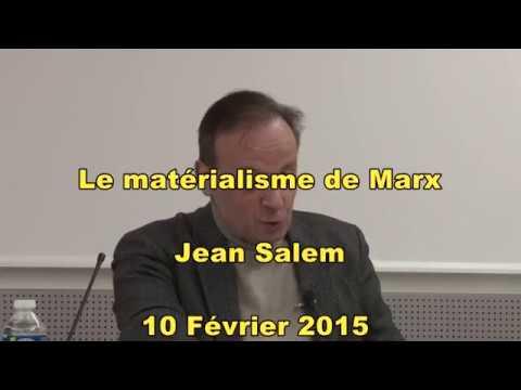 Le matérialisme de Marx. Par Jean SALEM