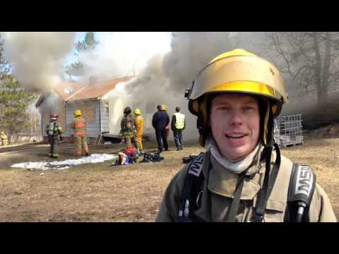 Fire Training at Lake Superior College