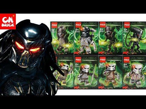 LEGO ALIEN VS PREDATOR MINFIGURES SETS  POGO 6019 Unofficial Lego