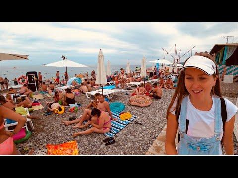 Влог: Пляжи и кафе Лазаревского, Бирюза, Свирский, Дельфин|| Пешком по Большому Сочи 2019