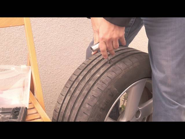 Reifen Flicken in 5 minuten  / How To Repair A Nail Hole In A Tire