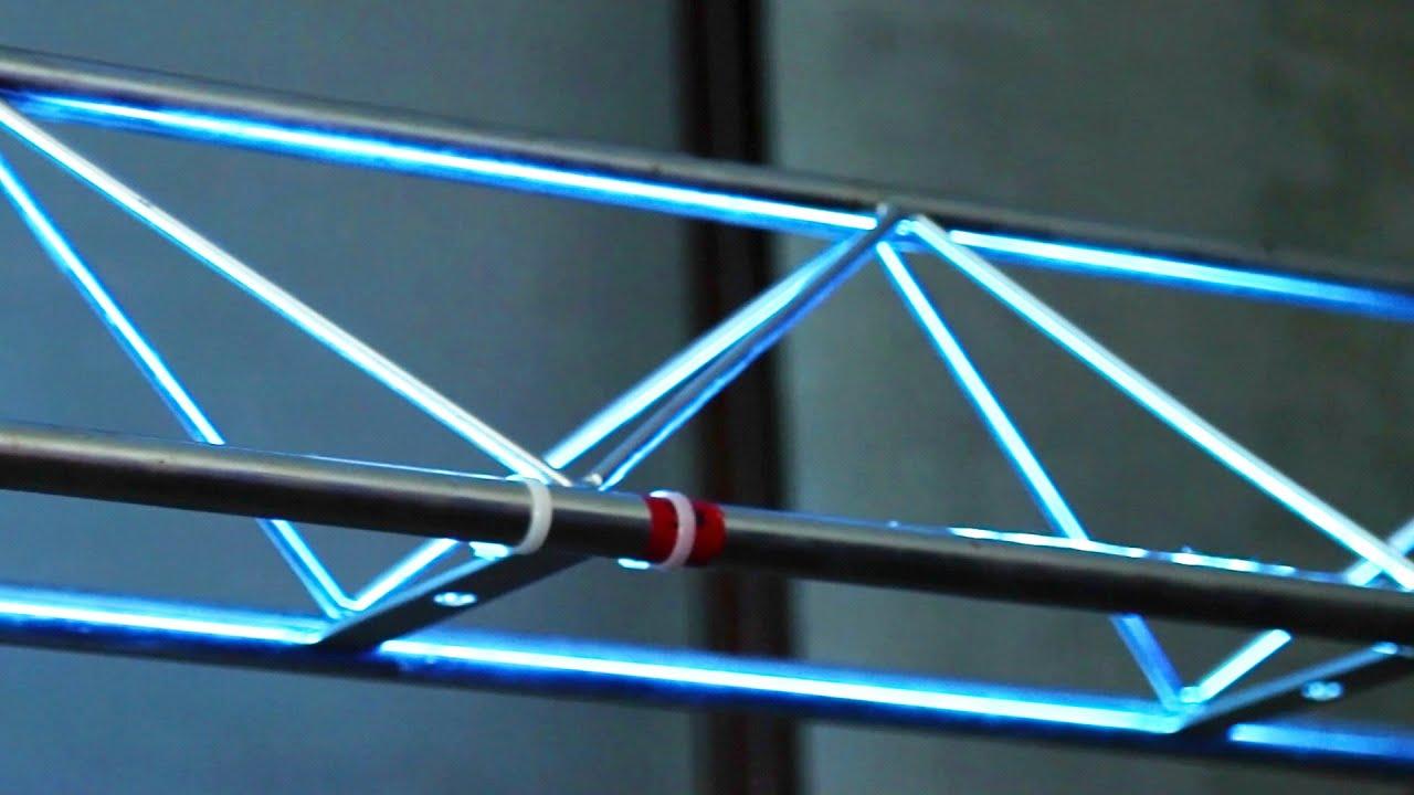 diy glow truss dmx led tape truss warmer