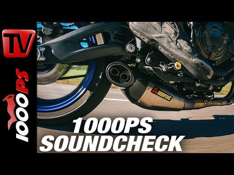 Yamaha MT-07 2018 Akrapovic Soundcheck