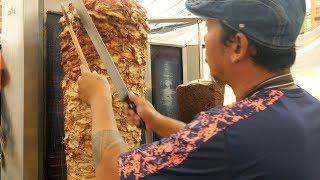 Chicken Kebab Burrito   Kebab Cutting