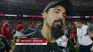 Anthony Rendon talks about winning the NL Pennant