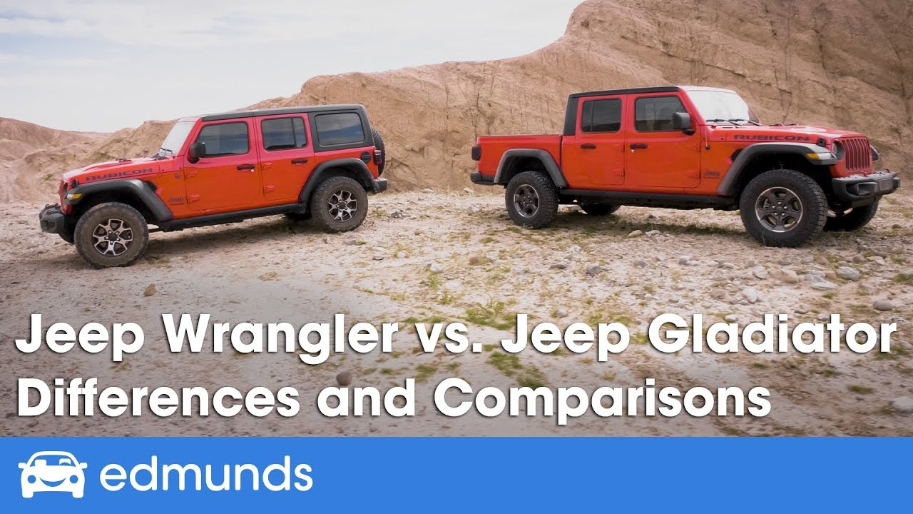 Jeep Wrangler vs. Jeep Gladiator - Differences and ...