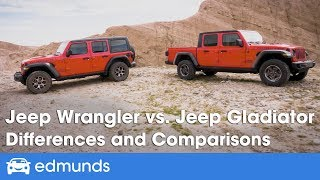 Jeep Wrangler vs. Jeep Gladiator - Differences and Comparisons