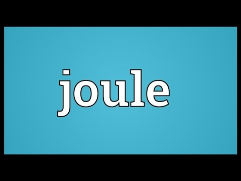 Joule Meaning