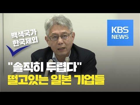 """'한국 백색국가 배제' 일본 기업 분위기는? """"정부와 딴판""""  / KBS뉴스(News)"""