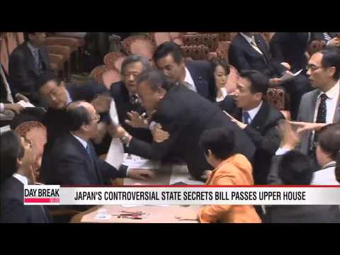Japan's controversial state secrets bill passes upper house