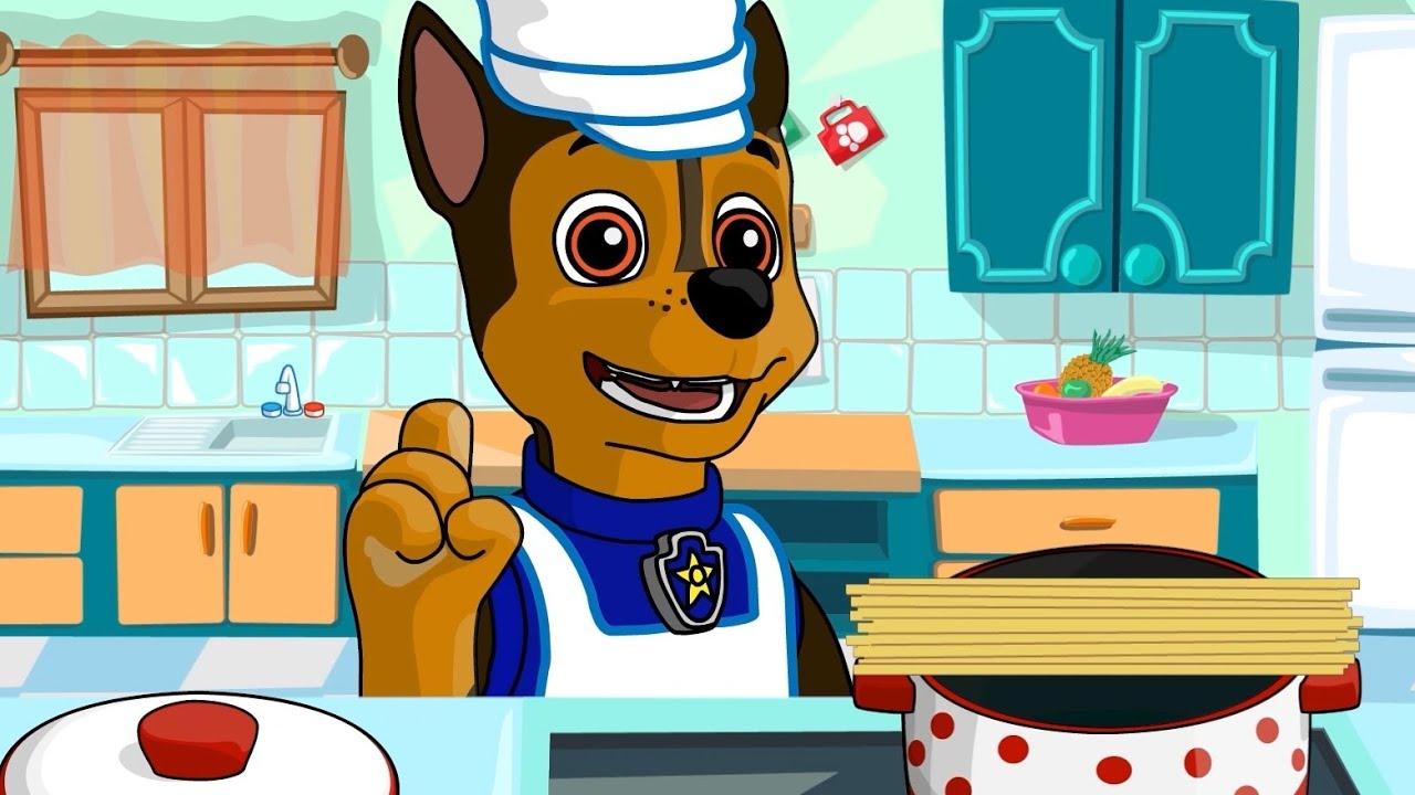 Paw Patrol Cooking बच्चों के लिए कार्टून - एवरेस्ट के लिए पिल्ले कुक फूड!