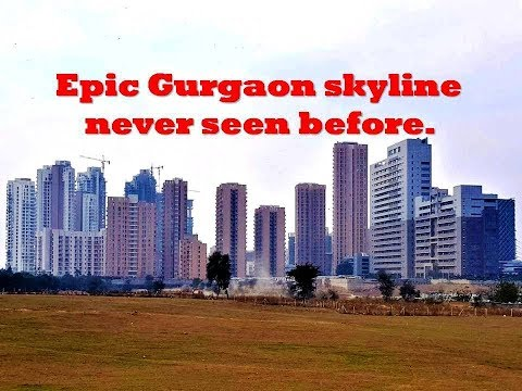 Skyline of Golf Course Extension Road Gurgaon, India in 2018, its Awesome👌