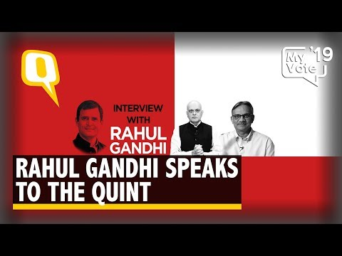 Congress President Rahul Gandhi Speaks to The Quint