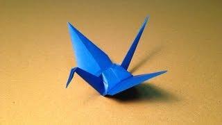 【折り紙(おりがみ)】 動物 ツルの折り方 作り方 簡単 thumbnail