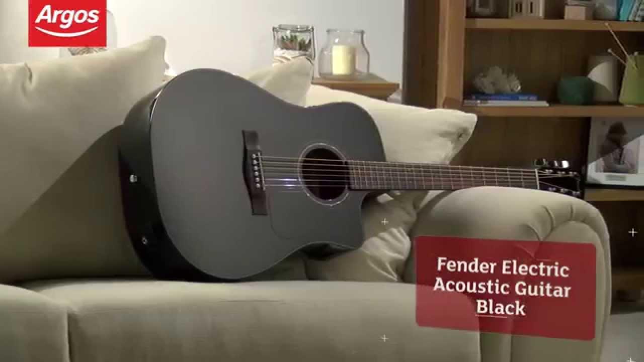 Black Fender Full Size Electro Acoustic Guitar Argos Review Youtube