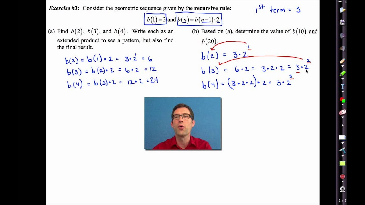 Common Core Algebra I.Unit #6.Lesson #9.Geometric Sequences - YouTube [ 720 x 1280 Pixel ]