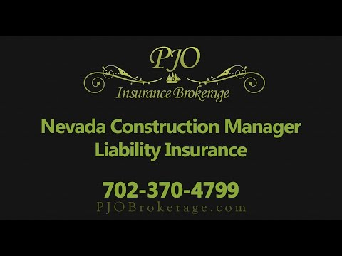 Construction Manager Professional Liability Insurance in Nevada