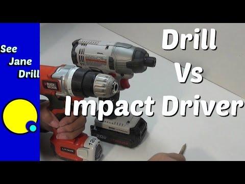 Impact Driver Vs Impact Wrench >> Drill Vs Impact Driver Youtube