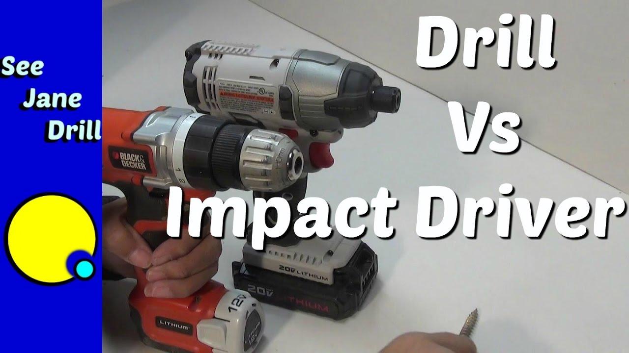 Drill vs Impact Driver