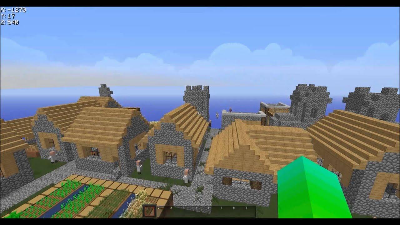 Minecraft Infinite Villager Preset Flat World