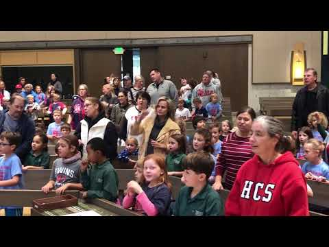 Highland Catholic School sings the Twins Win song
