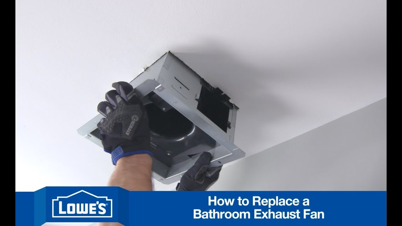 how to install a bath exhaust fan youtube