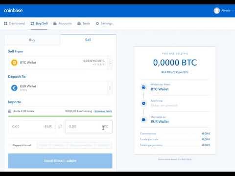 COINBASE - Come Convertire Bitcoin In Euro