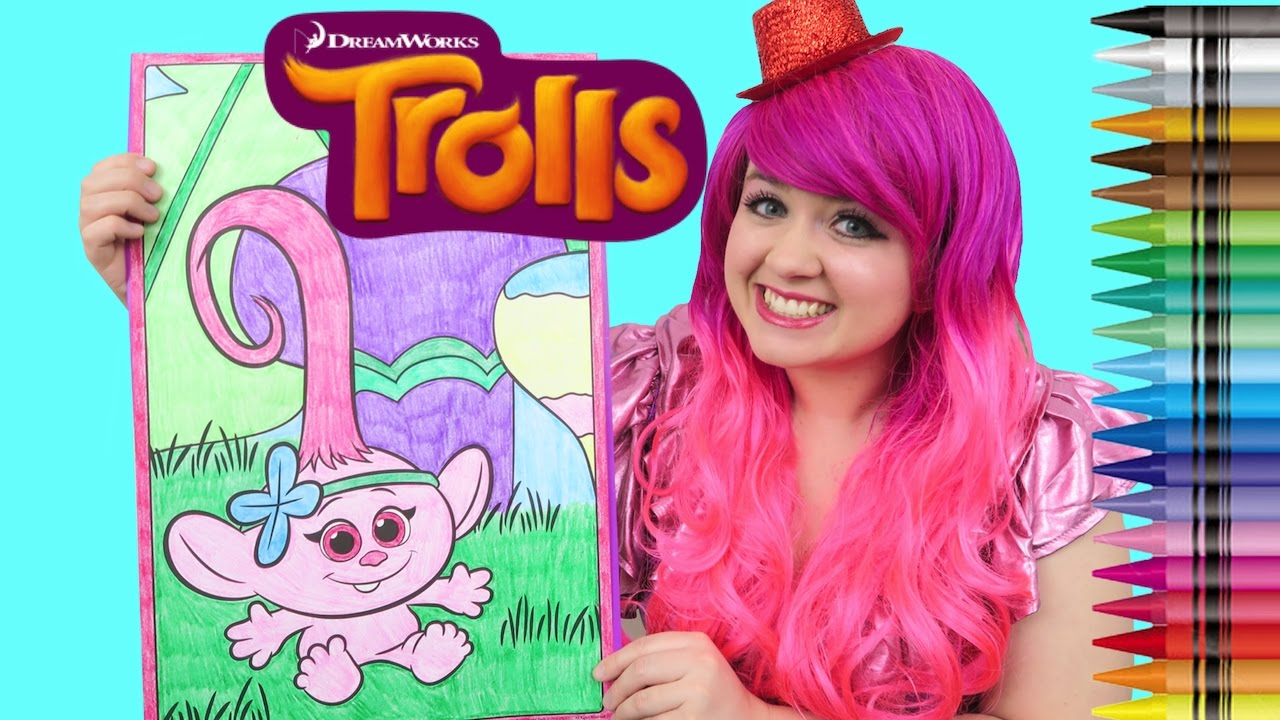 Trolls Baby Poppy GIANT Coloring